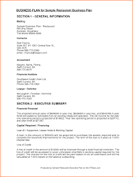 example of a business plan 4 sample business proposal for restaurant project proposal