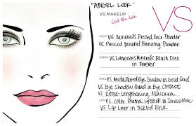 tutorials for women s and agers featuring the beautiful victoria nye angel look face chart victoria victoria s secret