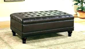leather coffee table with storage footstool coffee table storage in leather coffee table ottoman