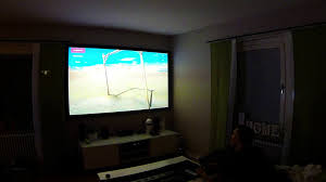 fpv freerider on projector 100 inch screen