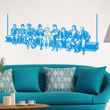 hollywood lunch wall sticker star wall decals american style home decoration mural house decor for living room or bedroom