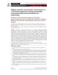 Highly sensitive and specific noninvasive in-vivo <b>alcohol detection</b> ...
