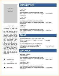 College Student Resume Templates Microsoft Word Resume For Study
