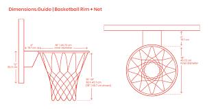 Rim Measurement Chart Basketball Rims Nets Dimensions Drawings Dimensions Guide