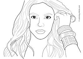 Katy Perry Coloring Page Free Coloring Library