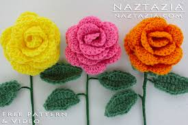 Crochet Flower Pattern Beauteous Crochet Flower Rose Bouquet Of Roses Flowers