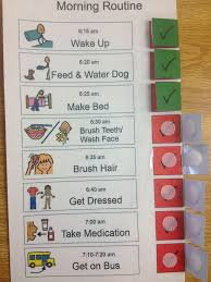 Autism Schedule Chart I Like This Visual Schedule The Pieces Are Connected And