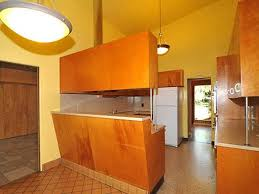 Yellow Wall Kitchen Mid Century Cabinet Using Yellow Wall Color For Simple Kitchen