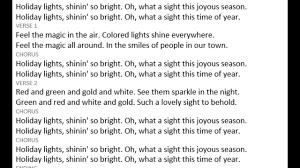 The Biggest Brightest Holiday Lights Lyrics 5 Holiday Lights