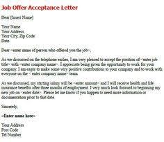 best photos of formal job acceptance letter  sample job offer  job offer acceptance letter