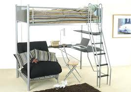 metal loft bed with desk full size of loft bed with futon underneath best bunk ideas