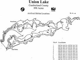 Union Reservoir Depth Chart Njdep Division Of Fish Wildlife Lake Survey Maps
