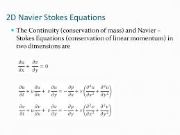 2d navier stokes equations