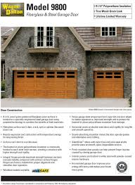 wayne dalton model 9800 fiberglass steel garage door new jersey door works
