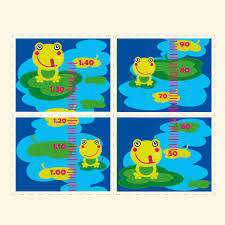 Personalised Happy Frogs Growth Chart