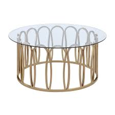 scott living clear glass round coffee table