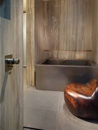 flat bottom stainless steel soaking bath with front skirting