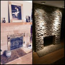 before and after lakeside fireplace wall stylish fireplaces