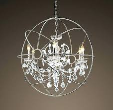 brushed nickel crystal orb 6 light chandelier crystal orb chandelier outstanding astounding large round brown iron