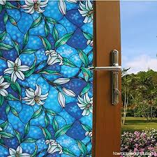 likesnow 3d no glue privacy window stained glass cling heat control anti uv decorative color printed opaque window decor glass door s