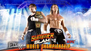 wwe summerslam 2016 match card dean ambrose vs dolph ziggler for the wwe world chionship hd