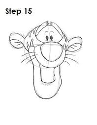 tigger drawings step by step.  Tigger Step By Step Tutorial Of How To Draw Tigger To Drawings By A