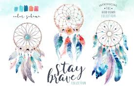 Boho Dream Catcher Png Watercolor dreamcatcher Bohemian Clipart tribe Digital 2
