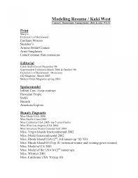 Modeling Beginner Resume Resume Model Curriculum Vitae Template Format For Engineers Child 17