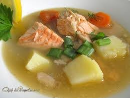 Image result for sup ikan salmon