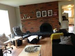 red brick fireplace living room red brick fireplace living room designs