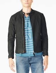 armani exchange coated cotton moto jacket for men a x