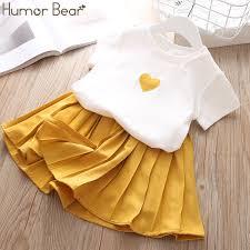 <b>Humor Bear Children Girls</b>' Clothing Set 2019 NEW Baby Girl ...