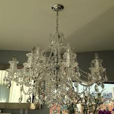 chandelier cleaning chandelier with crystals cleaned on apt in nyc