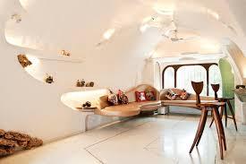 Organic House Interior Design Among Modern Minimalist Ideas as Living Room  Used Wall Shelving Furniture Made