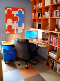 Orange home office Gray Hgtvcom Vibrant Home Offices Hgtv
