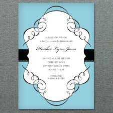 Stunning Bridal Shower Invitation Templates Word Scroll Frame Bridal