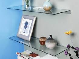 Floating Glass Wall Shelves For Living Room image and description