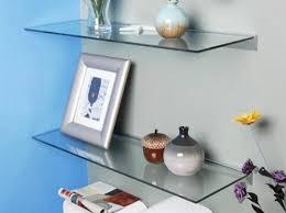 Glass wall shelves for living room 2