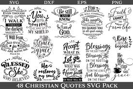 Download free vectors for use in adobe illustrator or other vector software. 48 Christian Quotes Svg Pack 174109 Cut Files Design Bundles