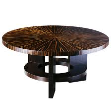 deco style furniture. Fifth Avenue New York Art Deco Style Round Dining Table With Massacar Ebony Veneer Furniture I