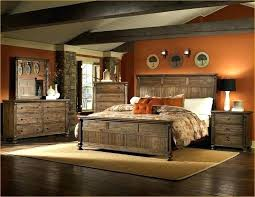 rustic wood queen bedroom sets solid home decor and metal furniture surprising
