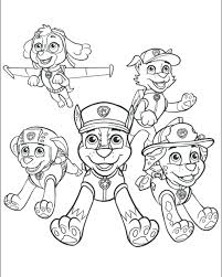 Printable Paw Patrol Coloring Pages As Well Pictures To Print Free