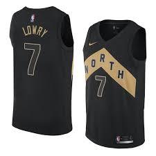 Kyle Lowry 7 2018 Toronto Raptors Black Jersey