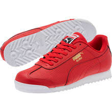 puma shoes red. roma basic perf sneakers puma shoes red