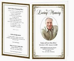 Funeral Templates Free Delectable Memorial Card Template Word Funeral Templates Free Spitznasfo Free