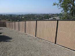 Modren Chain Link Fence Slats Image Of Commercial To Design