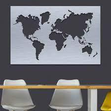 metal world map wall art hanging