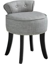 Vanity stools with back Metal Inspired Home West Linen Contemporary Nailhead Trim Rolled Back Vanity Stool Better Homes And Gardens Cant Miss Holiday Deals On Inspired Home West Linen Contemporary