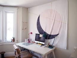 the most obvious route is to hang the wall tapestry on you guessed it the wall double sided or indoor mounting tape is a quick and effective way to get