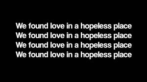 Rihanna We Found Love Lyrics